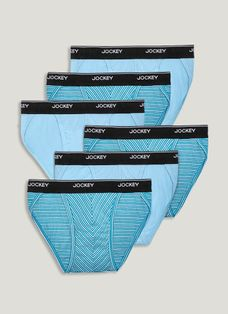 ELance 3 Pack Men/'s Low Rise Bikini Briefs New Large Teal Geometric by Jockey